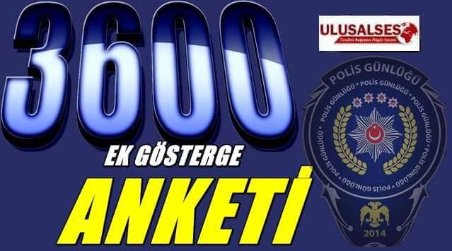 Polislere 3600 Ek Gösterge İçin Anket Yapıldı