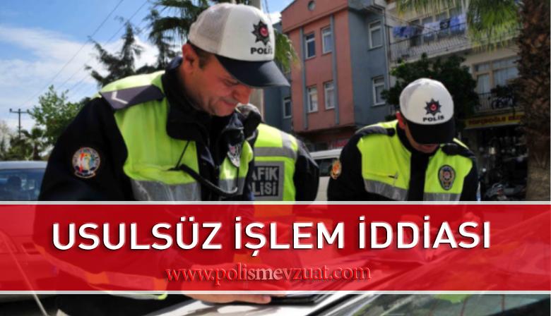 Usulsüz İşlem Yaptığı İddiası ile Trafik Polisine Verilen Ceza