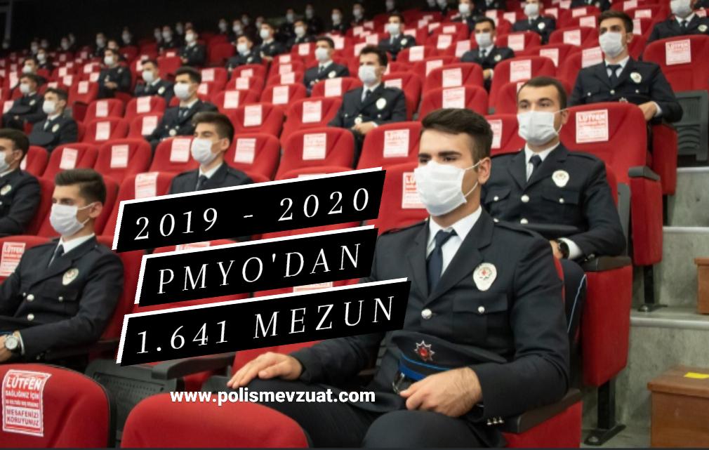 2019-2020 Pmyo Eğitim Yılında 1.641 Aday Polis Olarak Mezun Oldu