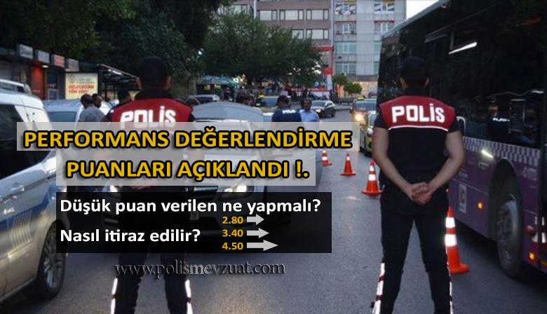 Polislerin performans değerlendirme puanları açıklandı