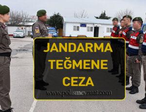 Tabur komutanlığında görev yapan jandarma teğmene verilen cezanın iptali