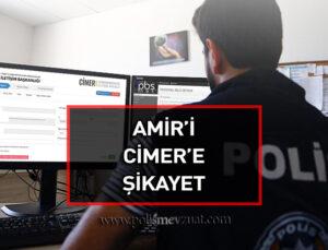 Amir ve üstlerini cimere şikayet eden polise verilen cezanın iptali