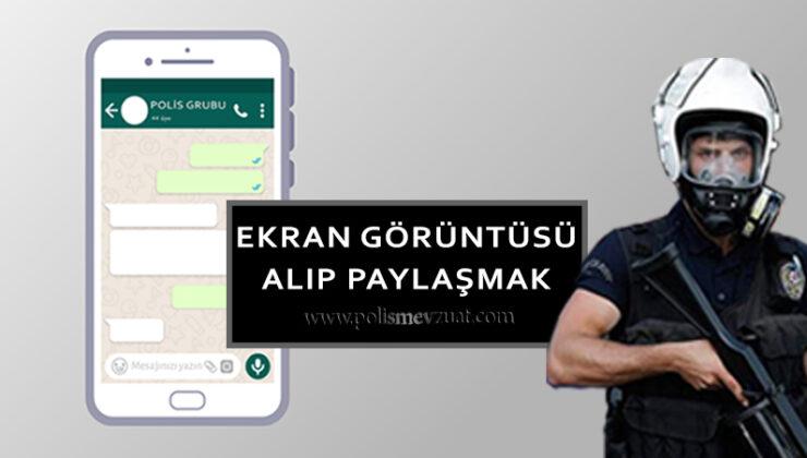 WhatsApp ekran görüntüsünü alarak sosyal medyada paylaşan polise verilen cezanın iptali