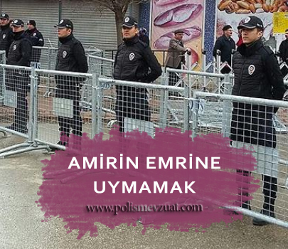 Amirin usulüne göre verdiği emri yerine getirmemekten polise verilen cezanın iptali