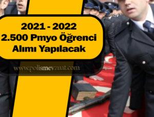 2021 – 2022 yılı pmyo alımlarında 2.500 öğrenci alınacak