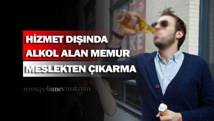 Görev dışında alkol alıp vatandaşa karşı kaba ve nezaketsiz davrandığı iddiasıyla memura verilen ceza